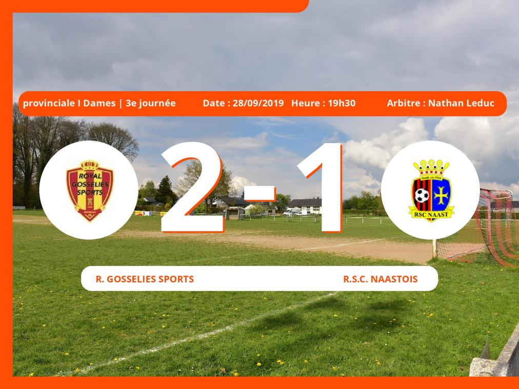Match de provinciale I Dames (Hainaut): Succès 2-1 du Royal Gosselies Sports face au Royal Sporting Club Muno