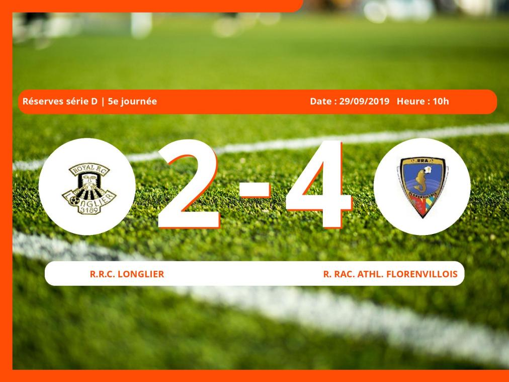 Match des Réserves série D (Luxembourg): Succès 2-4 du Royal Rac. Athl. Florenvillois face au Royal Racing Club Havelange