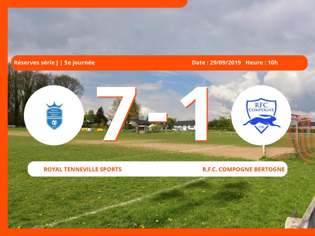 Match des Réserves série J (Luxembourg): Succès 7-1 du Royal Tenneville Sports face au Royal Football Club Compogne Bertogne