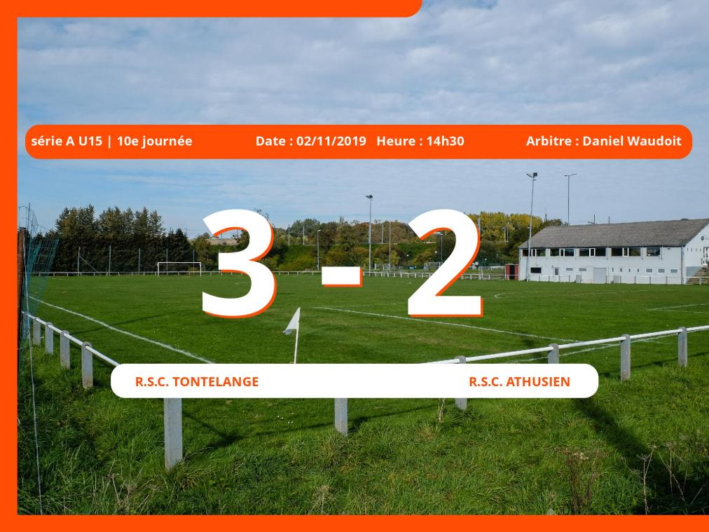Série A U15 (Luxembourg): succès 3-2 du Royal Sporting Club Tontelange face au Royal Sporting Club Athusien