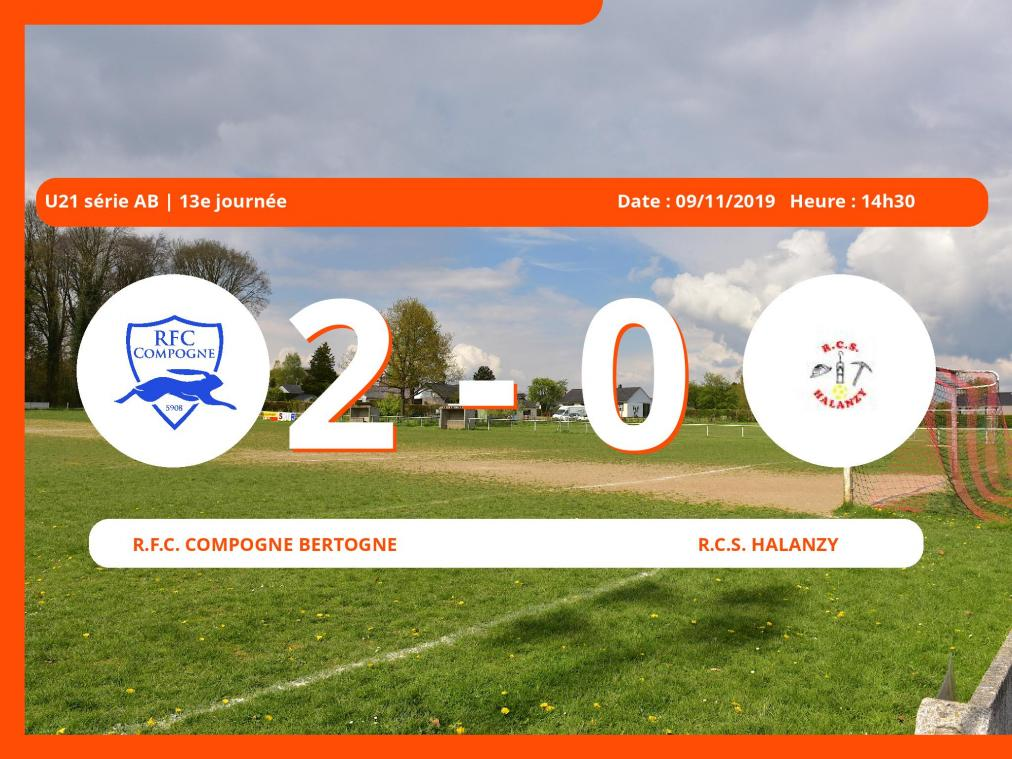 U11 série N (Luxembourg): succès 2-0 du Royal Football Club Compogne Bertogne face au Royal Club Sportif Halanzy