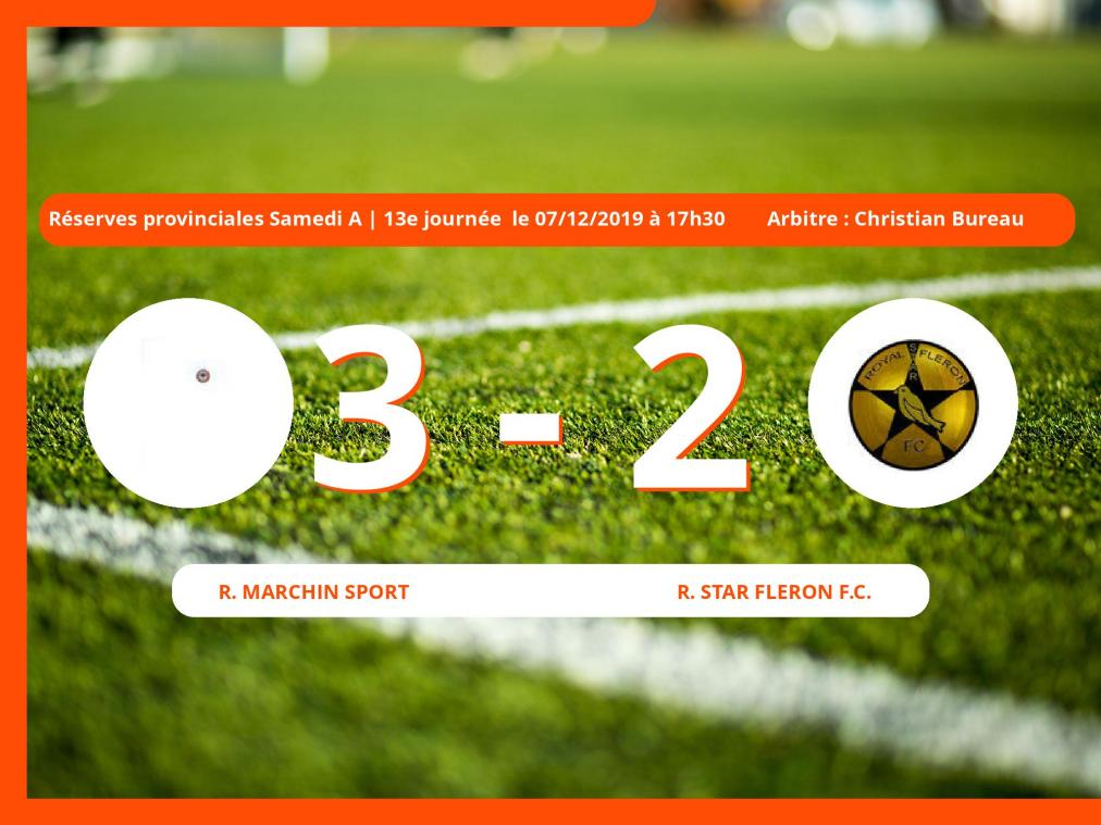Réserves provinciales Samedi A (Liège) : succès 3-2 du Royal Marchin Sport face à la Royal Star Fleron Football Club