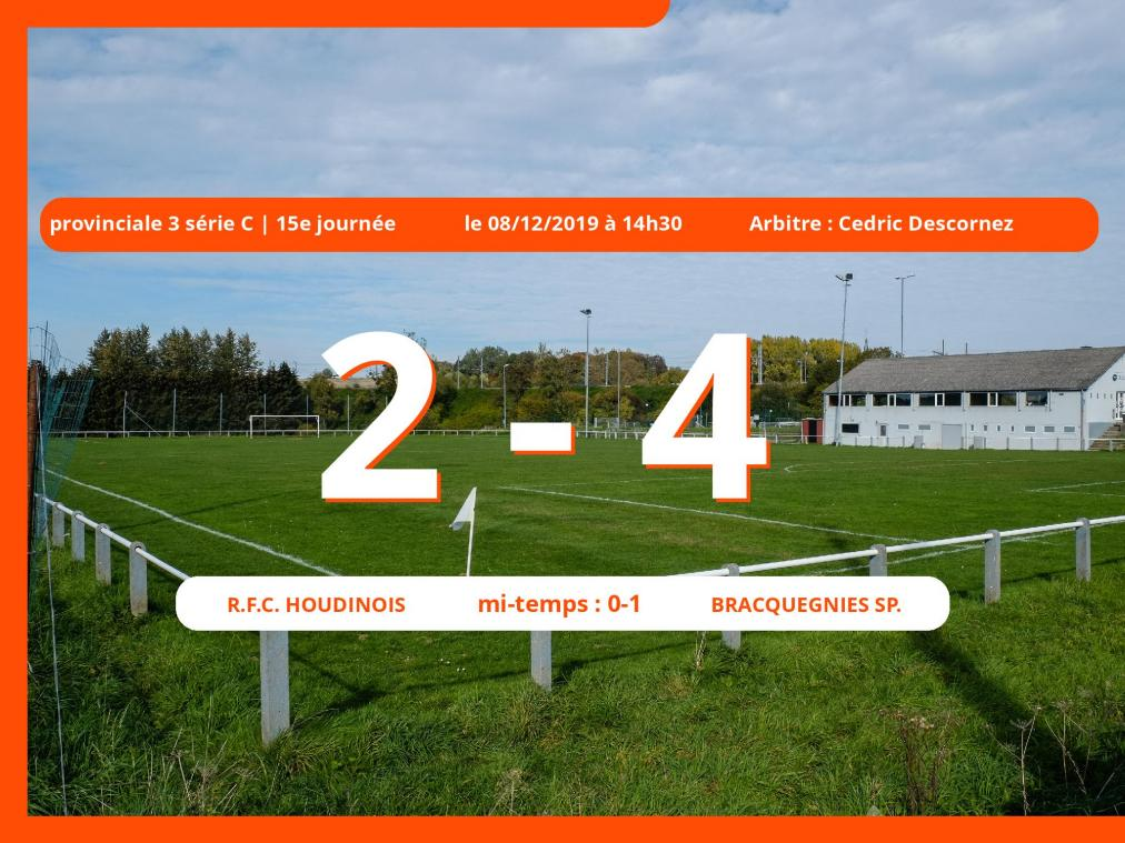 Provinciale 3 série C (Hainaut) : succès 2-4 du Bracquegnies Sp. face au Royal Football Club Houdinois