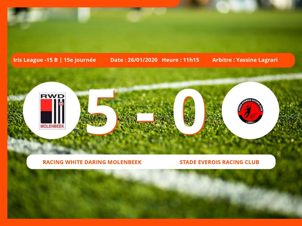 Iris League -15 B (Brabant ACFF/Bruxelles) : succès 5-0 du Racing White Daring Molenbeek face au Stade Everois Racing Club