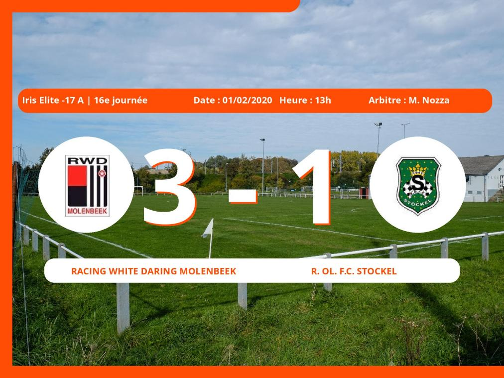 Iris Elite -17 A (Brabant ACFF/Bruxelles) : succès 3-1 du Racing White Daring Molenbeek face au Royal Ol. Football Club Stockel