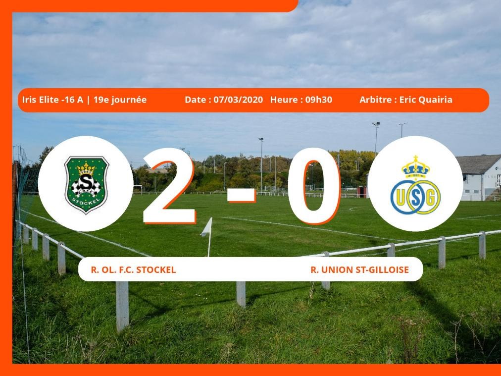 Iris Elite -16 A (Brabant ACFF/Bruxelles) : succès 2-0 du Royal Ol. Football Club Stockel face au Royal Union St-Gilloise