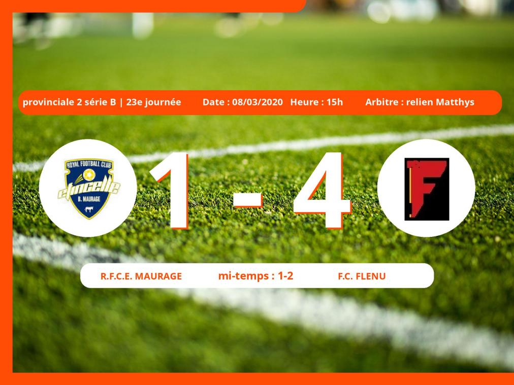 Provinciale 2 série B (Hainaut) : succès 1-4 du Football Club Flénu face au R.Football Club Maurage