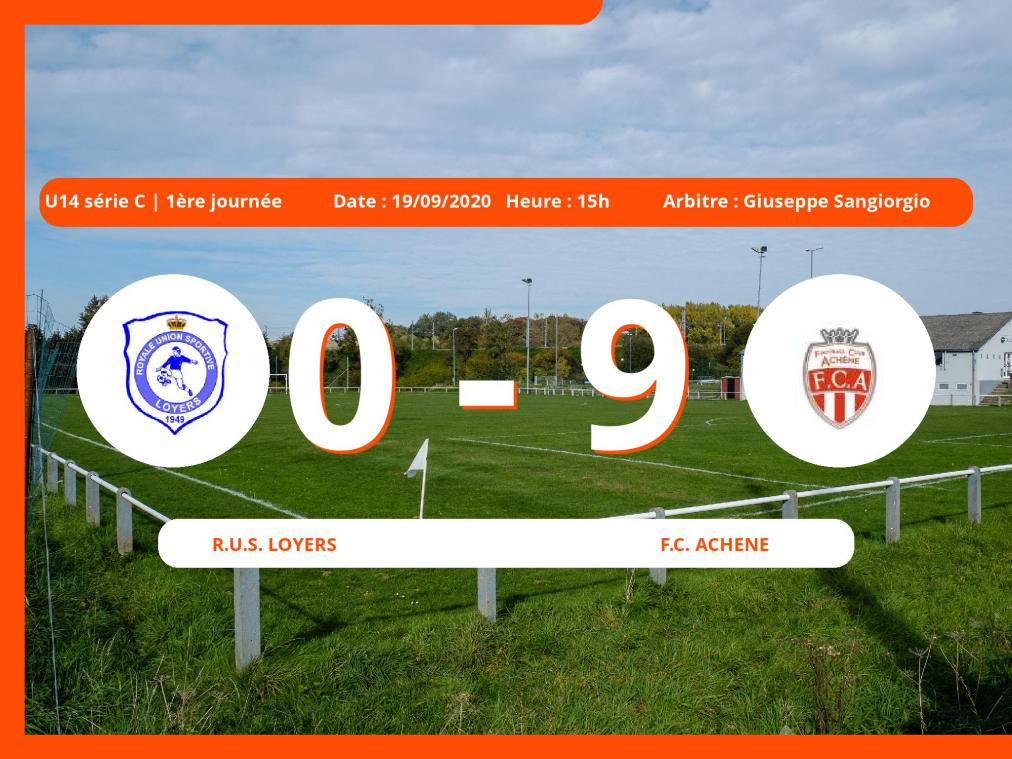 U14 série C (Namur) : le Football Club Achêne facile contre la Royale Union Sportive Loyers, 0-9