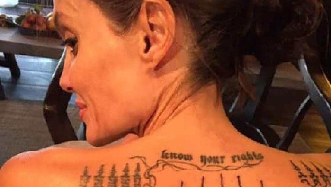 L Incroyable Signification Du Tatouage D Angelina Jolie Photos