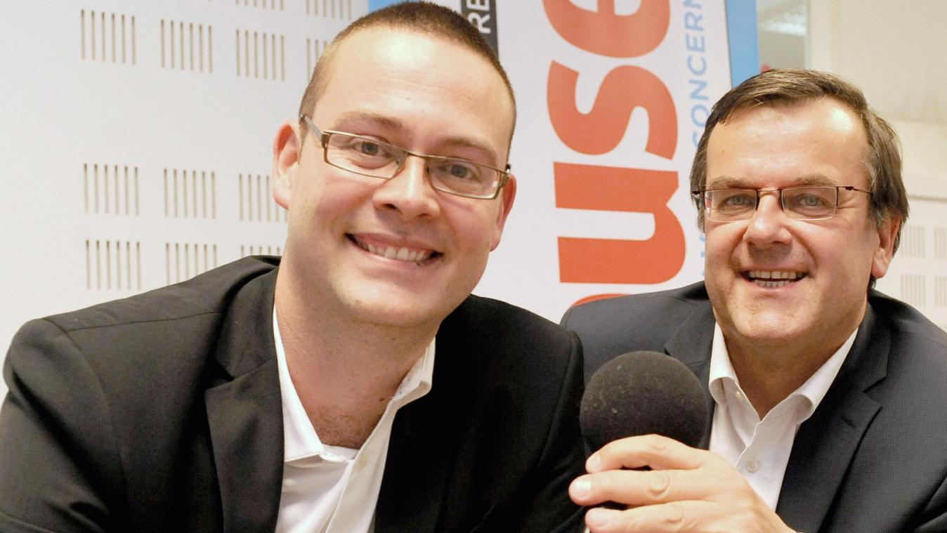 Raoul Hedebouw (PTB) et Willy Demeyer (PS)