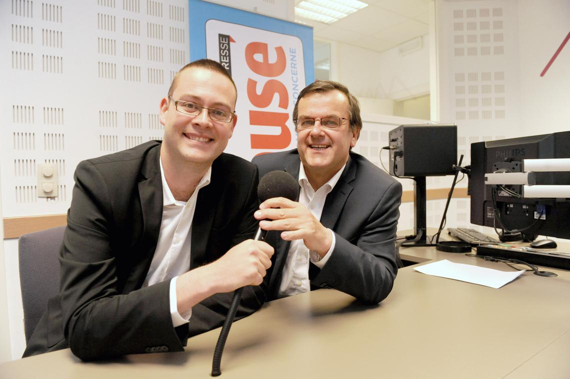 Raoul Hedebouw et Willy Demeyer.