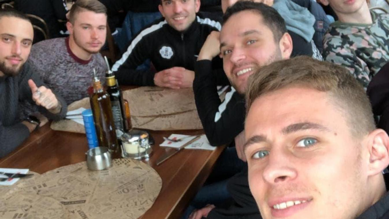 Le Stade Brainois en «team building» chez Thorgan Hazard
