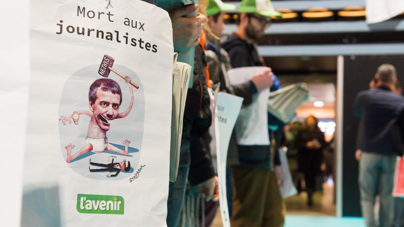 Les journalistes de L'Avenir se battent contre la suppression d'emplois au sein de leur journal.