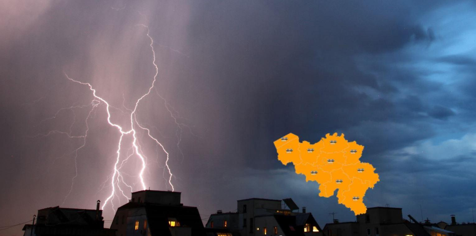 Les orages intenses arrivent: le pays en alerte orange!