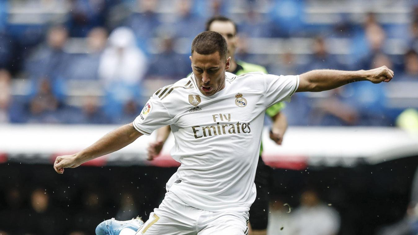 Eden Hazard a failli marquer pour son premier match officiel avec le Real Madrid. @News