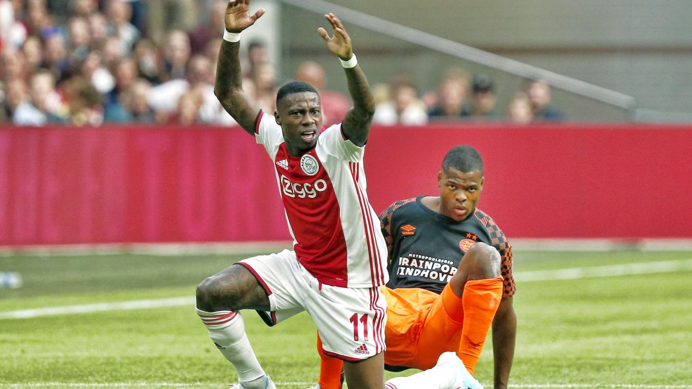 Quincy Promes (Ajax) - Denzel Dumfries (PSV) : duel d'internationaux ce dimanche.