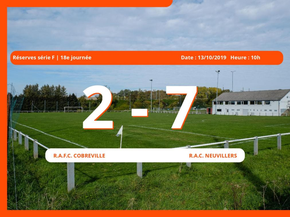 Match des Réserves série F (Luxembourg): Succès 2-7 du R.A.C. Neuvillers face au Royal Association Football Club Cobreville