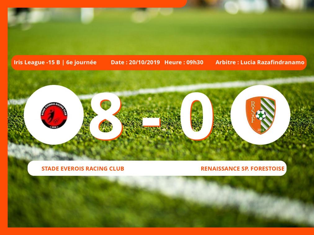 Iris League -15 B (Brabant ACFF/Bruxelles): succès 8-0 du Stade Everois Racing Club face au Renaissance Sp. Forestoise