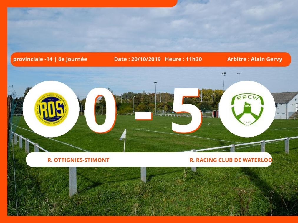 Provinciale -14 (Brabant ACFF/Bruxelles): succès 0-5 du Royal Racing Club de Waterloo face au Royal Ottignies-Stimont