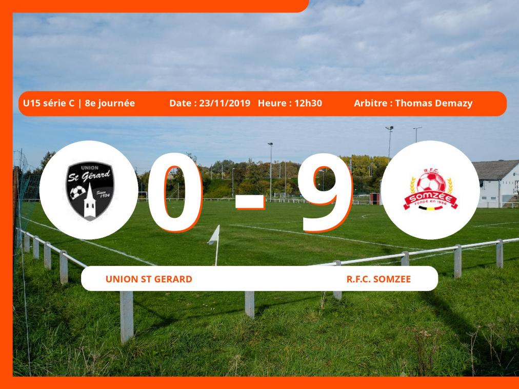 U15 série C (Namur): succès 0-9 du Royal Football Club Somzee face à l'Union St.Gérard