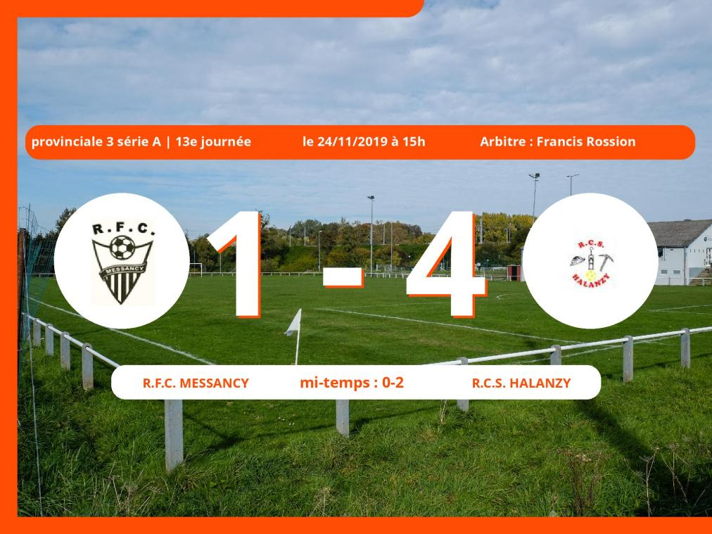 Provinciale 3 série A (Luxembourg): succès 1-4 du Royal Club Sportif Halanzy face au Royal Football Club Messancy