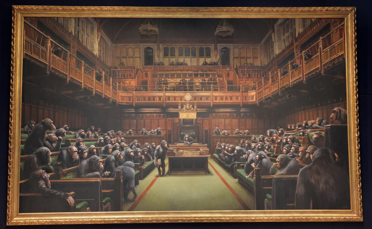 Devolved Parliament de Banksy.