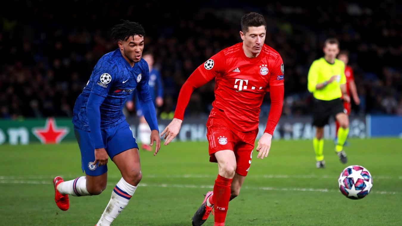 Robert Lewandowski face à Chelsea