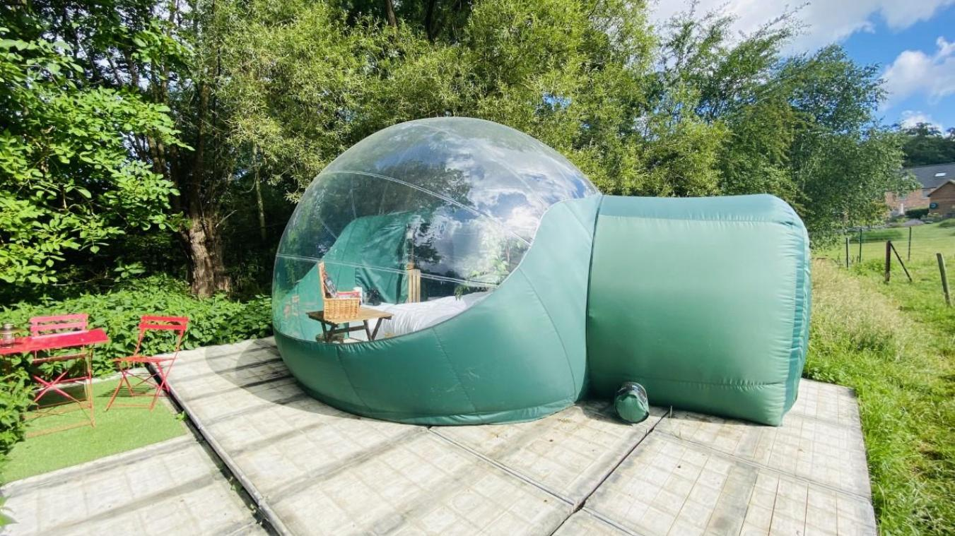 La Bubble Garden a une superficie de 17 m 2 .