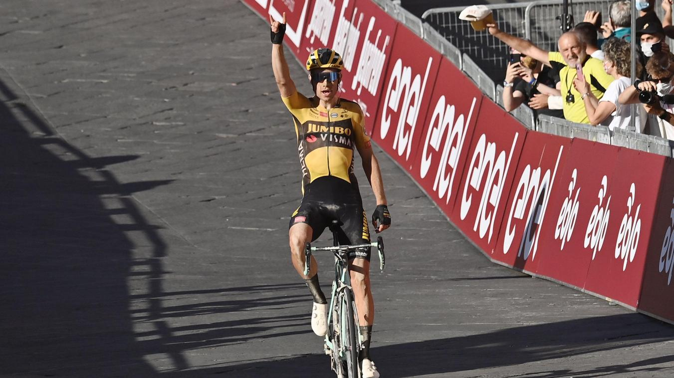 Strade Bianche: impressionnant, Wout Van Aert s'impose en solitaire