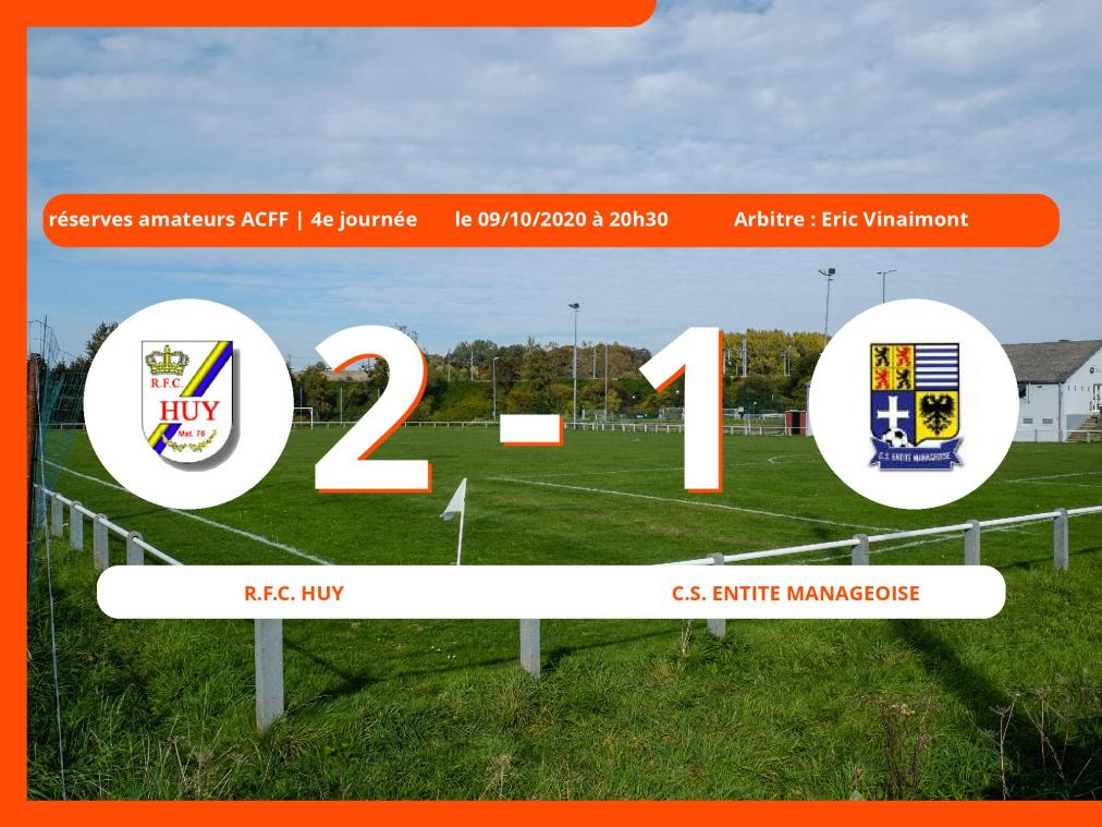 U10 série I (Nationale): succès 2-1 du Royal Football Club Huy face au C.S. Entite Manageoise