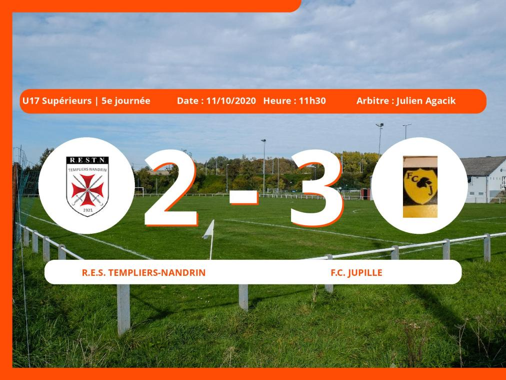 : courte victoire du Football Club Jupille face au R.E.S. Templiers-Nandrin, 2-3