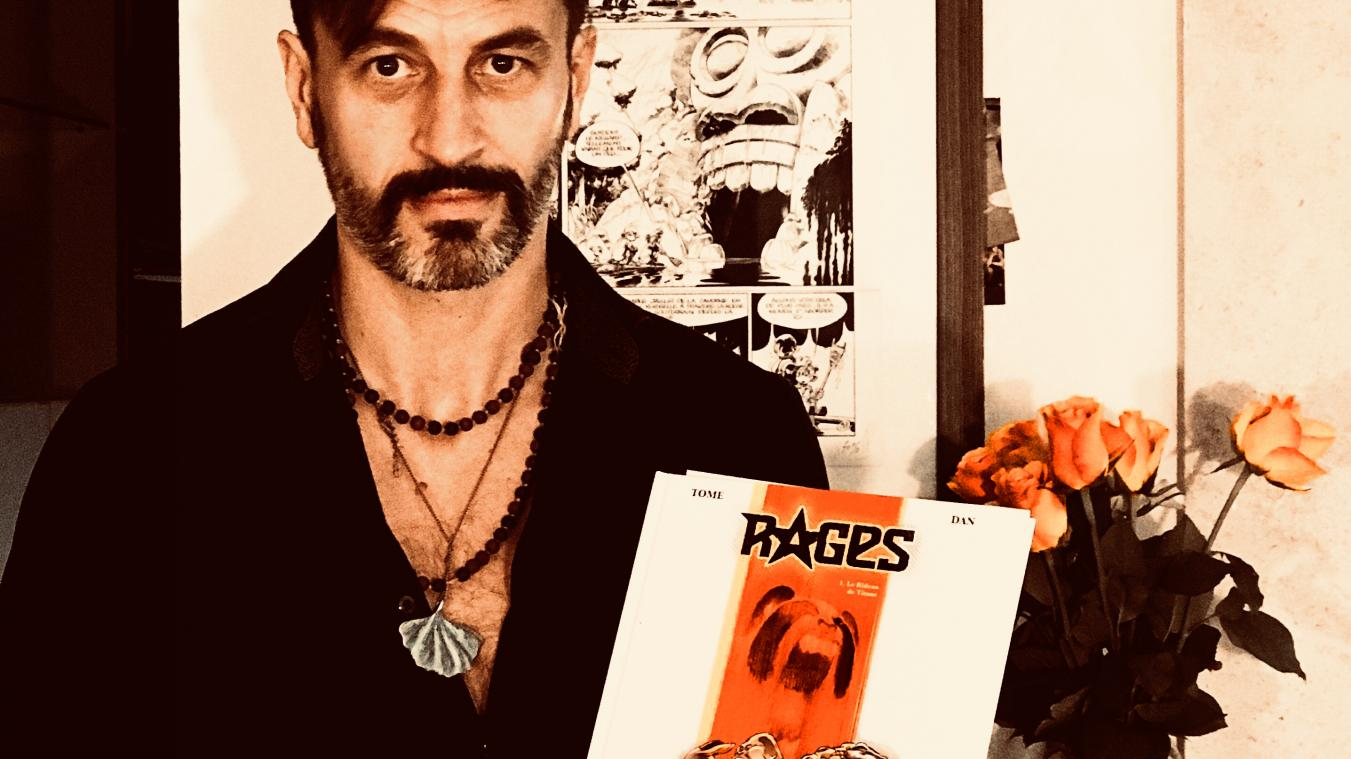 Dan Verlinden tenant l'album « Rages ».