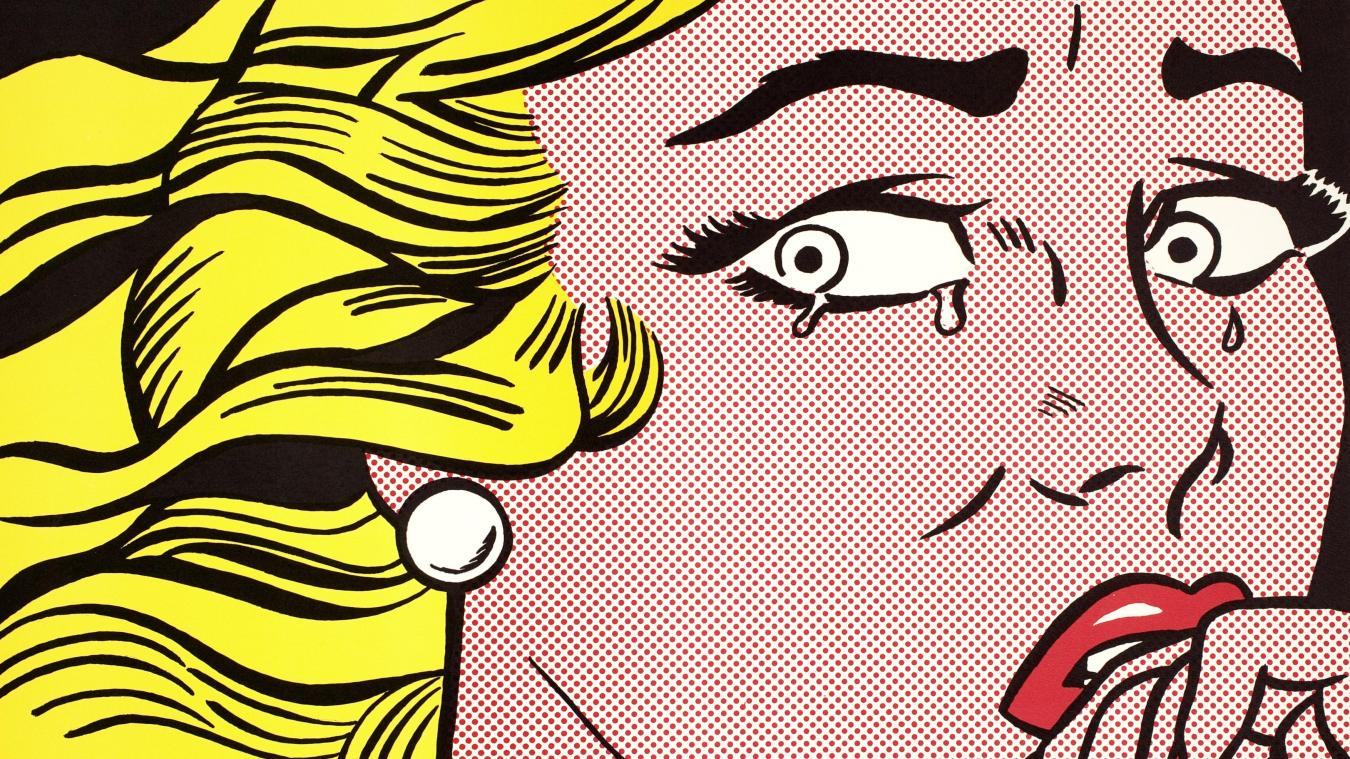 Roy Lichtenstein, « Crying Girl », 1963.