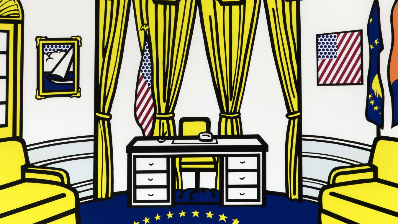 Roy Lichtenstein, « The Oval Office », 1992. Collection Lex Harding.