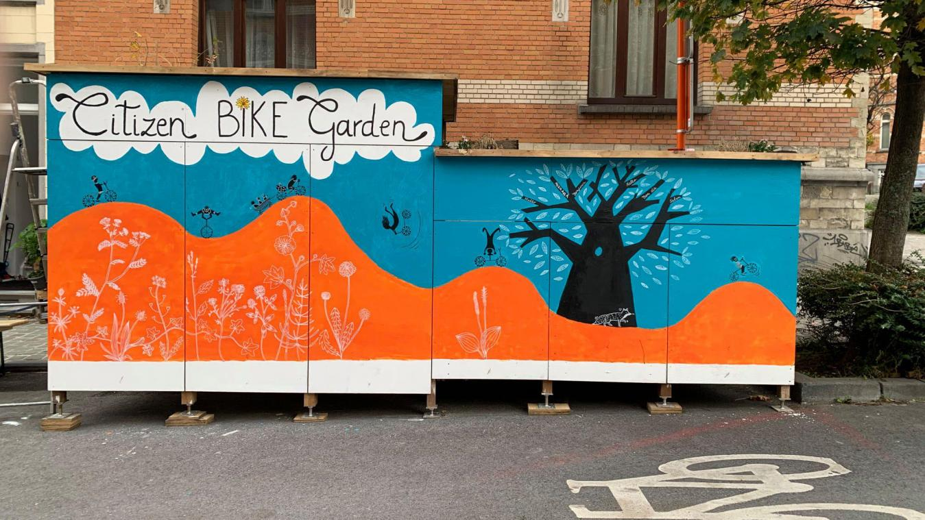 Le Citizen Bike Garden abrite six vélos à Schaerbeek