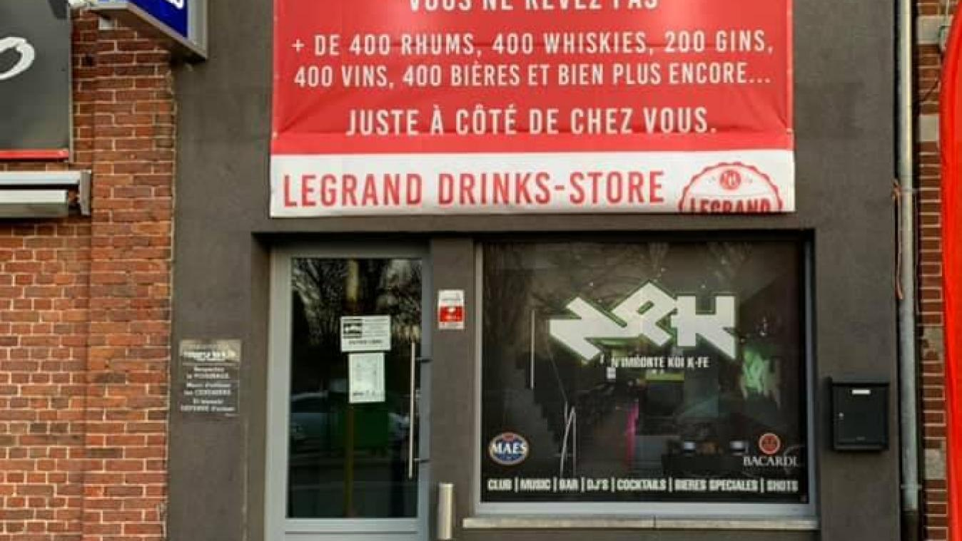 Le bar transformé en magasin éphémère.
