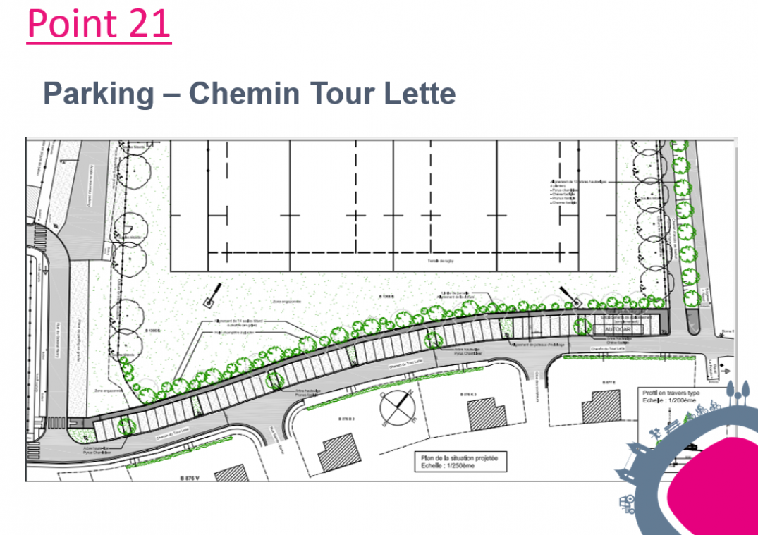 Un parking de 56 places au Chemin Tour Lette