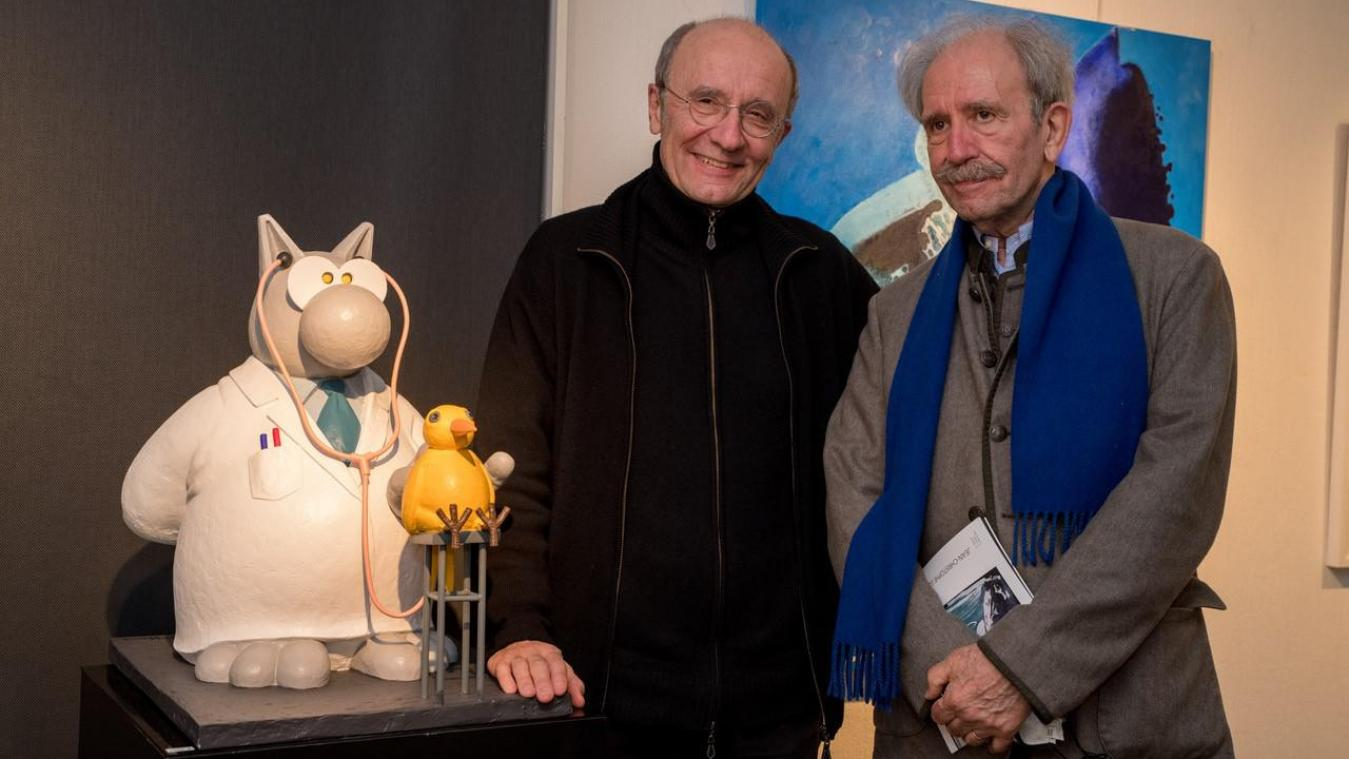 Philippe et son frère, Jean-Christophe Geluck.