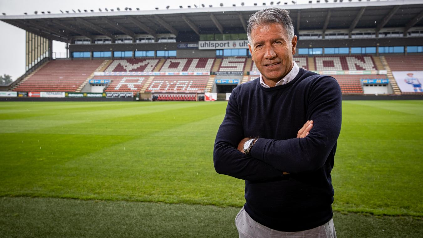 Mouscron's head coach Enzo Scifo poses after a press conference of Belgian soccer team Royal Excel Mouscron, to present their new coach and technical staff, in Mouscron, Tuesday 22 June 2021. BELGA PHOTO KURT DESPLENTER