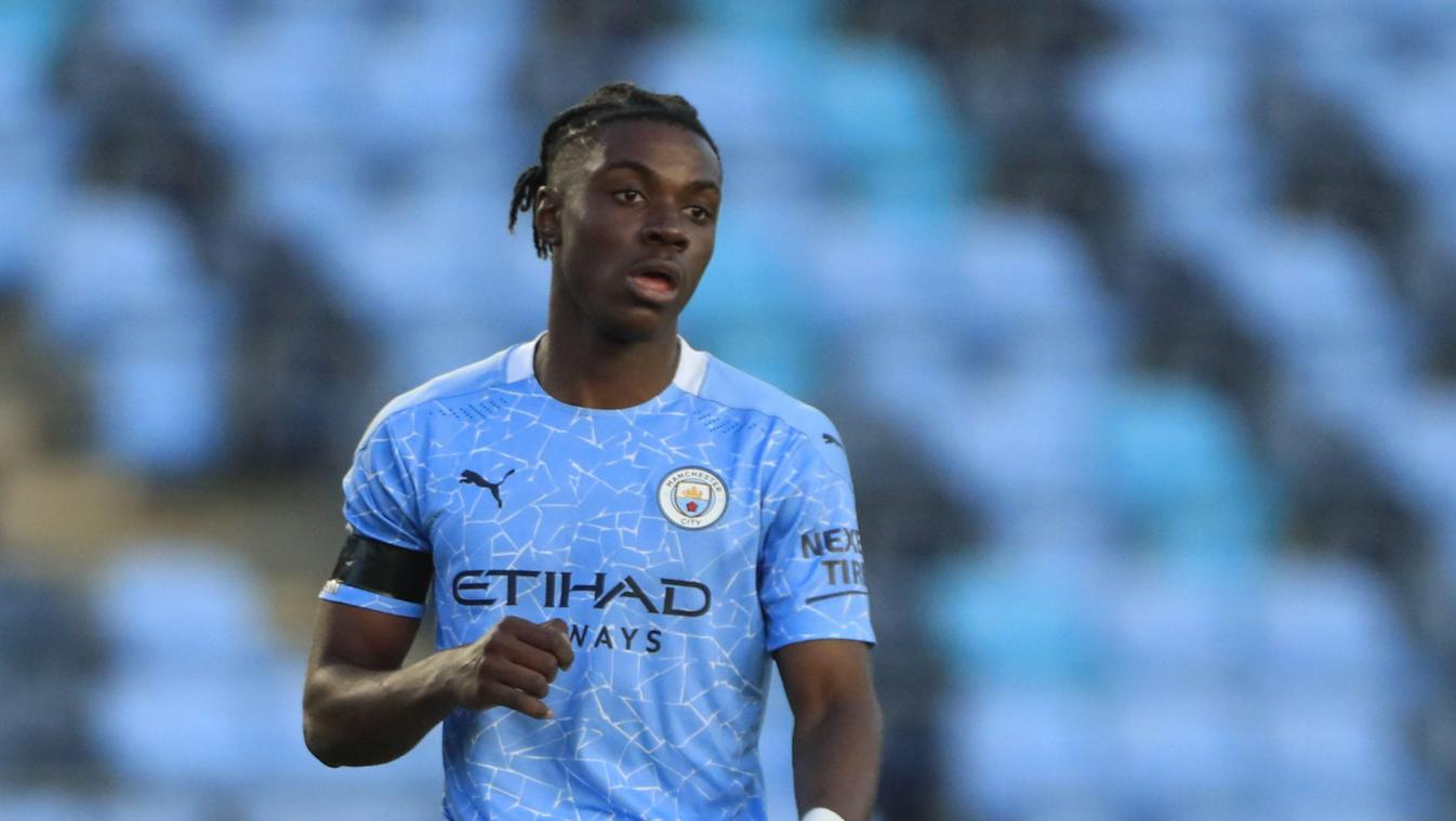 Romeo Lavia of Manchester City in Manchester, UK on 4/9/2021. (Photo by Conor Molloy/News Images/Sipa USA) *** local caption *** 32909683