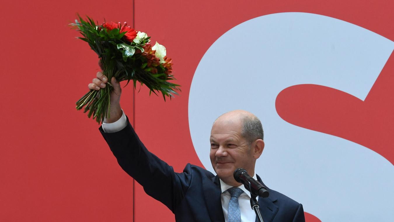 Olaf Scholz, candidat social-démocrate.