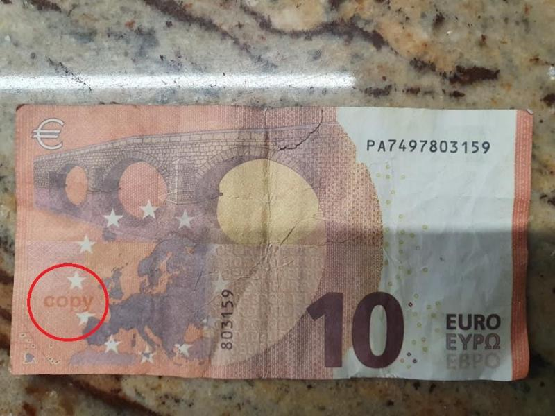 La version montoise du faux billet de 10