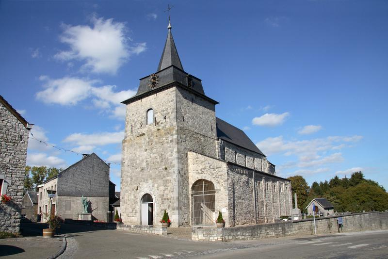 L'église Saint-Remacle d'Ocquier.