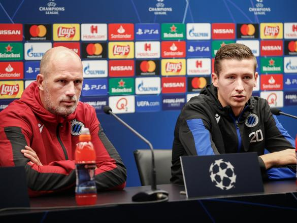 SOCCER CL GROUP STAGE CLUB BRUGGE PREPARATIONS